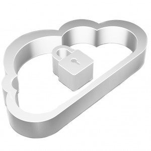 Cloud networking icon: Flat metallic 3d Cloud