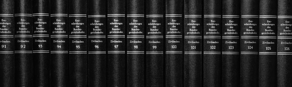 Buchrücken Anwaltsbibliothek