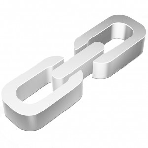 Web development icon: Flat metallic 3d Link
