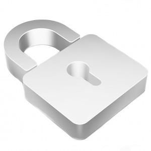 Data icon: Flat metallic 3d Closed Padlock