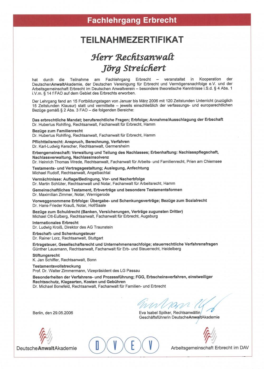Teilnahmezertifikat Fachlehrgang Erbrecht(1)