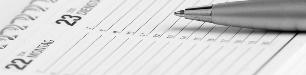 Stift mit Kalender