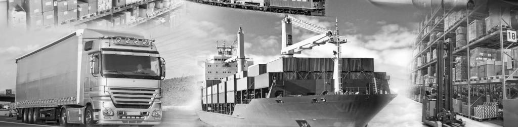 Logistik mit Transport und Lagerung