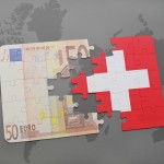 Puzzle with the national flag of switzerland