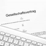 Gesellschaftsvertrag mit externer Tastatur