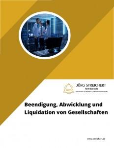 Beendigung, Abwicklung und Liquidation von Gesellschaften