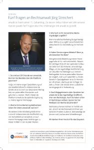 Fünf Fragen an Rechtsanwalt Jörg Streichert