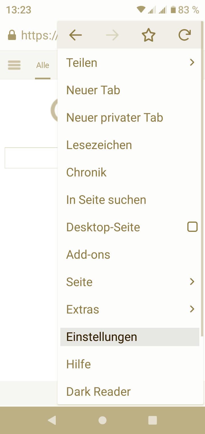 Browser Cache löschen Firefox